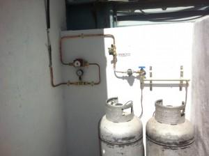 התקנת צנרת גז במפעל ברמלה